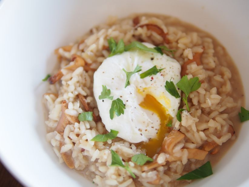 Recipe: Wild Mushroom Risotto with a Poached Egg