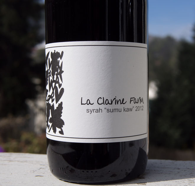 "Wine Review: La Clarine 2012 ""Sumu Kaw"" Syrah"