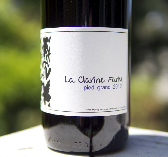 "Wine of the Week: La Clarine Farm 2012 ""Piedi Grandi"" Red Blend"