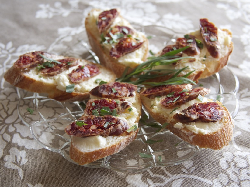 Recipe: Salumi, Ricotta, and Tarragon Bruschetta